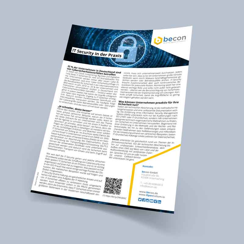 fact sheet it security in practice becon gmbh