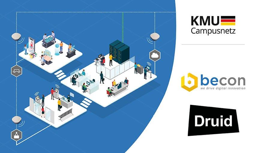 Partnerschaft Druid und becon für KMU Campusnetz