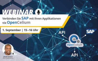 Webinar: Verbinden Sie SAP mit Ihren Applikationen via OpenCelium